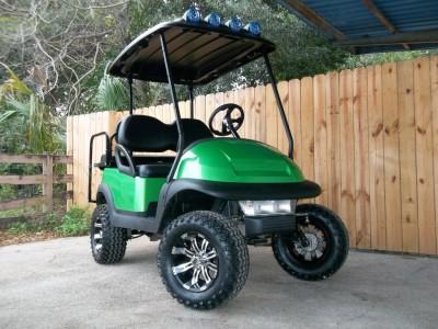 Green Golf Carts